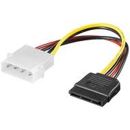 PC Y Stromkabel/Stromadapter, 5.25 Stecker zu SATA<br>4-pol. 5,25-Powerstecker > 15-pol. S-ATA