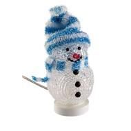 Dekorativer USB Schneemann blau<br>für einen weihnachtlichen Touch am Schreibtisch