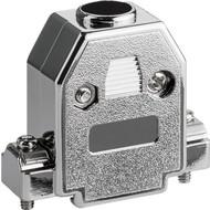 SUB-D Haube, metallisierter Kunststoff<br>15-polig