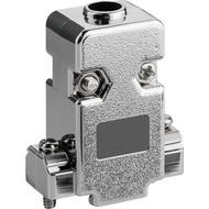 SUB-D Haube, metallisierter Kunststoff<br>9-polig