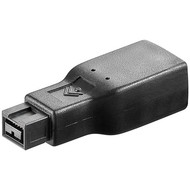 FireWire™ 400 Adapter, 9 Pin zu 6 Pin<br>FireWire 800 Stecker (9-Pin) > FireWire 400 Buchse (6-Pin)