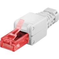 Werkzeugfreier RJ45 Stecker CAT 6 UTP ungeschirmt<br>für 3 verschiedene Kabel Ø: bis 5,2 / 6,4 / 7,5 mm