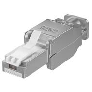 Werkzeugfreier RJ45 Stecker CAT 6 STP geschirmt<br>max. Kabeldurchmesser: 9 mm