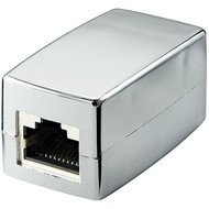 RJ45 crossover Modularkupplung/Verbinder, CAT 5e<br>2x RJ45-Buchse (8P8C)