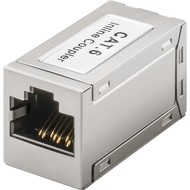 RJ45 Modularkupplung/Verbinder, CAT 6<br>2x RJ45-Buchse (8P8C)
