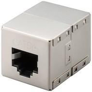 RJ45 Modularkupplung/Verbinder, CAT 5e<br>2x RJ45-Buchse (8P8C)