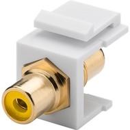 Keystone Modul Cinch/RCA<br>2x Cinch-Buchse, Gelb, vergoldet
