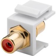 Keystone Modul Cinch/RCA<br>2x Cinch-Buchse, Rot, vergoldet