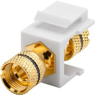 Keystone Modul Lautsprecher<br>16,2 mm Breite, Polklemme > Gewindebuchse, schwarz