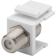 Keystone Modul SAT/Antenne<br>mm Breite, F-Buchse > F-Buchse