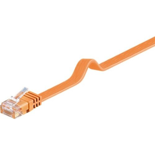 CAT 6 Flach-Patchkabel, U/UTP, Orange<br>Kupfermaterial 3M