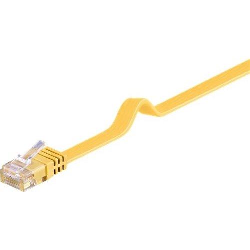 CAT 6 Flach-Patchkabel, U/UTP, Gelb<br>Kupfermaterial 1M