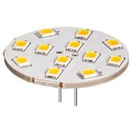 LED Tellerstrahler, 2 W<br>Sockel G4, ersetzt 22 W, kalt-weiß, nicht dimmbar