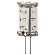 LED Kompaktlampe, 1,3 W<br>Sockel G4, ersetzt 13 W, kalt-weiß, nicht dimmbar
