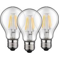 3x Filament-LED Birne, 4 W<br>Sockel E27, ersetzt 40 W, warm-weiß, nicht dimmbar