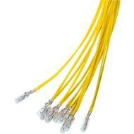 T1¼ Subminiatur-Glühlampe, 1,1 W<br>Gelb, 0,3 m Kabel, 14 V (DC), 80 mA