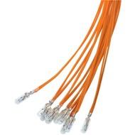 T1 Subminiatur-Glühlampe, 0,24 W<br>Orange, 0,25 m Kabel, 6 V (DC), 40 mA