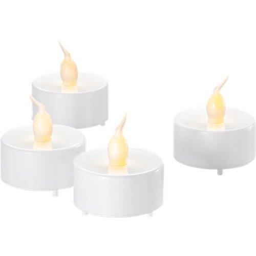 4er-Set LED-Teelichter, weiß<br>Wunderschöne und sichere Lichtlösung für viele Bereiche wie Haus und Loggia, Büros, Schulen oder Seniorenheime