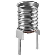 E10 Lampenfassung<br>max. 10 W/24 V (DC), Printmontage, vertikal (2-Pin)