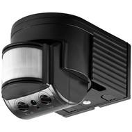 Infrarot Bewegungsmelder<br>zur Aufputz-Wandmontage, 180° Erfassung, 12 m Reichweite, für Außen (IP44), LED-geeignet