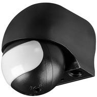 Infrarot Bewegungsmelder<br>zur Aufputz-Wandmontage, 180 ° Erfassung, 12 m Reichweite, für Außen (IP44), LED-geeignet