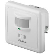 Infrarot/Akustik Bewegungsmelder<br>zur Unterputz-Wandmontage, 160° Erfassung, 9 m Reichweite, für Innen (IP20), LED-geeignet