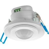 Infrarot-Bewegungsmelder<br>zur Unterputz-Deckenmontage, 360° Erfassung, 8 m Reichweite, für Innen (IP20), LED-geeignet