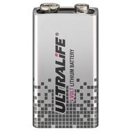 Ultralife 6F22 /9V Block(U9VL-J-P)<br>Lithium Batterie, 9 V