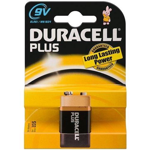 Duracell 6LR61/6LP3146/9V Block (MN1604)<br>Alkali-Mangan Batterie (Alkaline), 9 V
