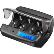 Universal LCD-Tischladegerät<br>geeignet für bis zu 4x Micro (AAA), Mignon (AA), Baby (C), Mono (D) und 2x 9 V-Block