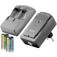Fotobatterie-Steckerladegerät<br>geeignet für bis zu 2x CR123 Batterien/Akkus