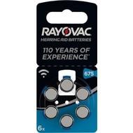 Rayovac PR44/675<br>Zink-Luft Hörgeräte-Knopfzelle, 1,4 V