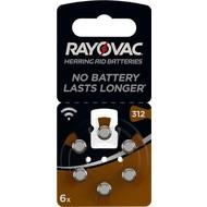 Rayovac PR41/312A<br>Zink-Luft Hörgeräte-Knopfzelle, 1,4 V