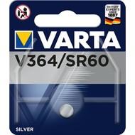 Varta SR60 (V364)<br>Silberoxid-Zink-Knopfzelle, 1,55 V Uhrenbatterie