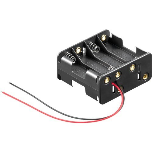 8x AA (Mignon) Batteriehalter<br>lose Kabelenden