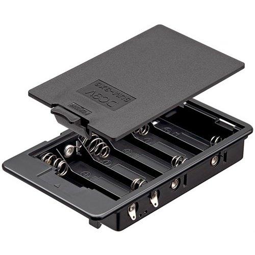 6x AA (Mignon) Batteriehalter<br>Lötfahne (U), wasserabweisend