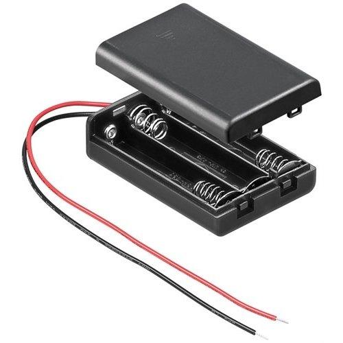 3x AAA (Micro) Batteriehalter<br>lose Kabelenden, wasserabweisend
