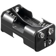 4x AA (Mignon) Batteriehalter<br>Druckknopf