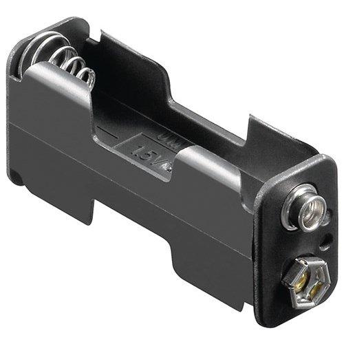 2x AA (Mignon) Batteriehalter<br>Druckknopf