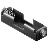 1x AA (Mignon) Batteriehalter<br>Druckknopf