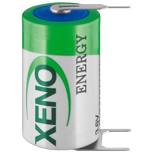 Xeno 1/2 AA (Mignon)/ER14252 (XL-050F/T3) - Printmontage, horizontal (3-Pin)<br>3,6 V, 1200 mAh, Lithium-Thionylchlorid Batterie