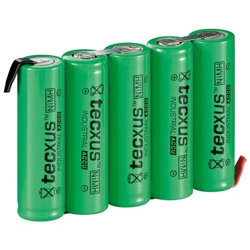 Tecxus 5x AA (Mignon) - 2100 mAh<br>Lötfahne (Z), LSD-NiMH Akku (Ready-to-Use), 6 V