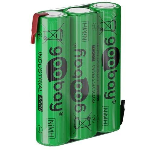 3x AAA (Micro) - 800 mAh<br>Lötfahne (Z), Nickel-Metallhydrid Akku (NiMH), 3,6 V