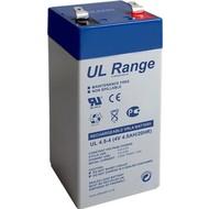 Ultracell Bleiakku 4 V, 4,5Ah (UL4.5-4)<br>Faston (4,8 mm) Bleiakku