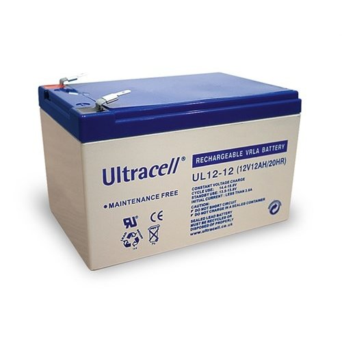 Ultracell Bleiakku 12 V, 12 Ah (UL12-12)<br>Faston (4,8 mm) Bleiakku, VdS