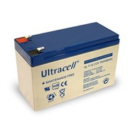 Ultracell Bleiakku 12 V, 7 Ah (UL7-12)<br>Faston (4,8 mm) Bleiakku, VdS