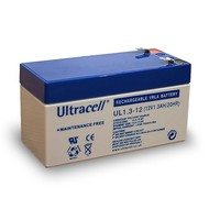 Ultracell Bleiakku 12 V, 1,3 Ah (UL1.3-12)<br>Faston (4,8 mm) Bleiakku, VdS