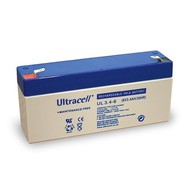 Ultracell Bleiakku 6 V, 3,4 Ah (UL3.4-6)<br>Faston (4,8 mm) Bleiakku