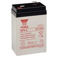Yuasa Bleiakku 6 V, 4,0 Ah (NP4-6)<br>Faston (4,8 mm) Bleiakku