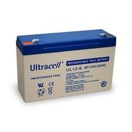 Ultracell Bleiakku 6 V, 12 Ah (UL12-6)<br>Faston (4,8 mm) Bleiakku